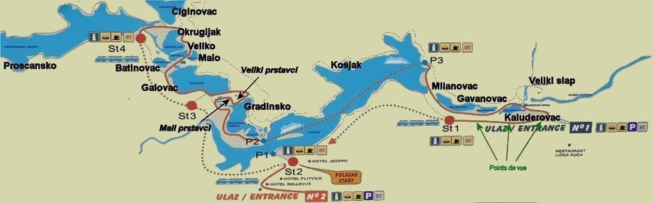 Plan des lacs Plitvice