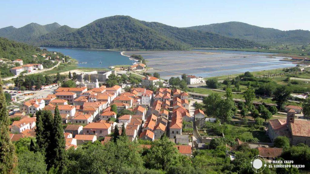 La vieille ville de Ston depuis les remparts