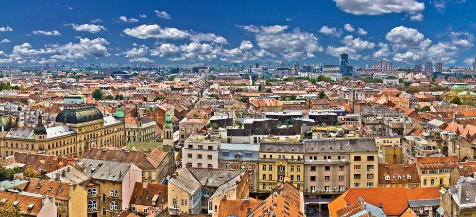 La colorée ville de Zagreb
